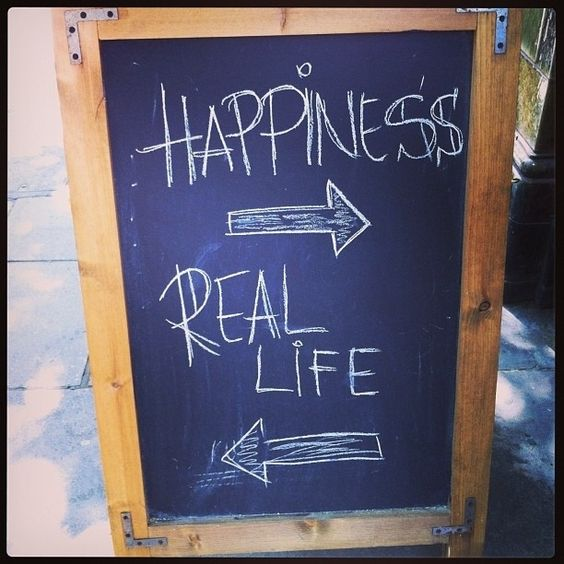 creative chalkboard pub sign: