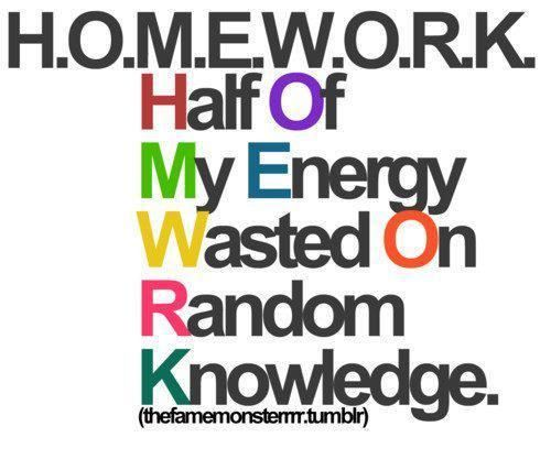 Homework images