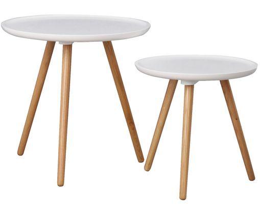 Beistelltisch Set Daisy 2 Tlg Beistelltische Set Beistelltische Und Weisse Tischplatte