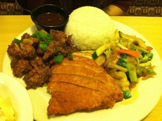 Forgot what its called - a combo of korean bbq chicken and katsu chicken | Yelp