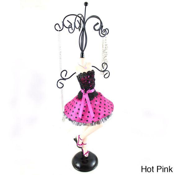 Jacki Design Polka Dot Mannequin Jewelry Holder (