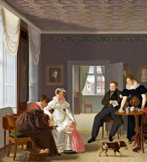 The Wintner Family Copenhagen 1827 - Emil Bærentzen - (Danish : 1799 – 1868)