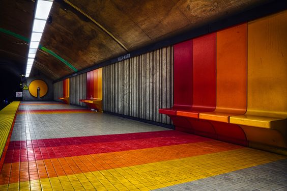 Stadion Stockholm Public Space Pinterest Metro Station And - Vibrant photos of international subways capture their unappreciated beauty