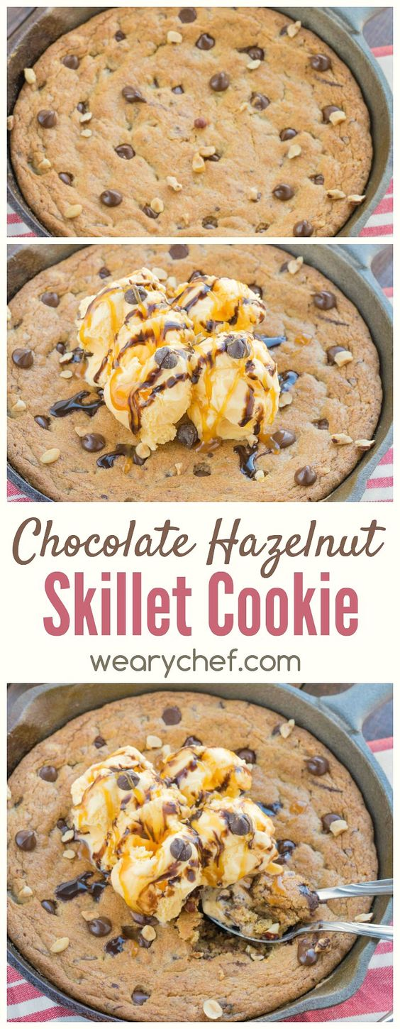 Dig into this hazelnut cookie skillet, and you'll think you've gone to cookie heaven!