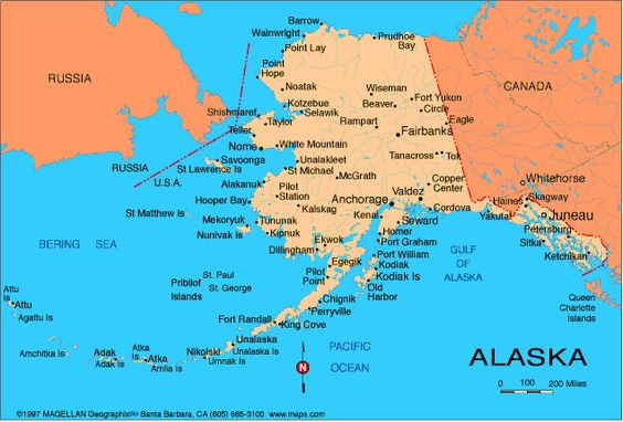 Alaska Atlas Maps And Online Resources Infopleasecom US - Alaska usa map