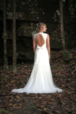 Robe de Mariée David's Bridal Dos Nu dentelle Neuve T34/36 Ivoire