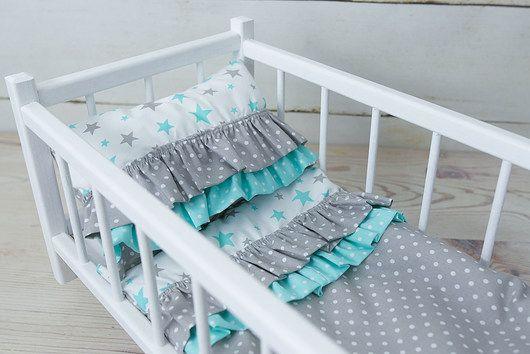 Drewniana Kolyska Bardzo Solidna Recznie Malowana Z 3 Czesciowa Unikalna Posciela Uszyta Z Bawelnianego Materialu Reko Home Decor Toddler Bed Furniture