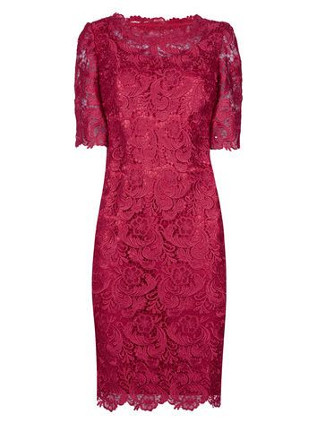 this is called scarlet but it doesn't look red. lovely colour JACQUES VERT Luxury Lace Tunic