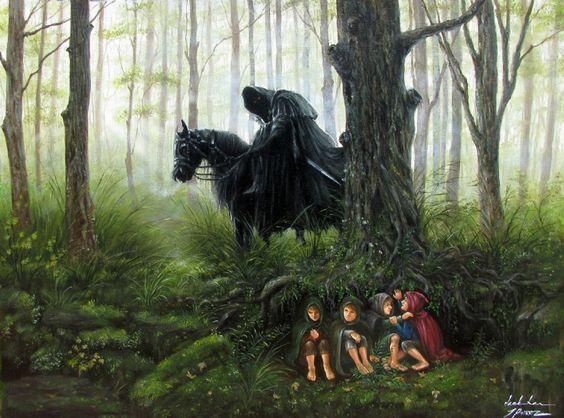 Хоббиты и назгул Lord of the Rings Dark Rider & 4 Hobbits, in…