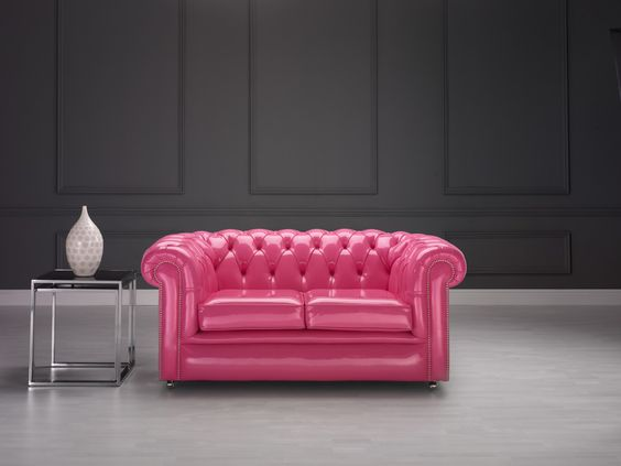 Pink Chesterfield.