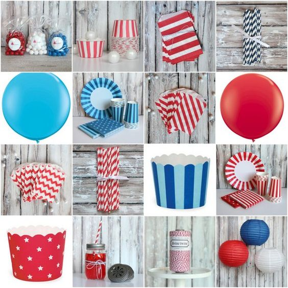 Fourth Of July, 4th Of July Party And Party Supplies On