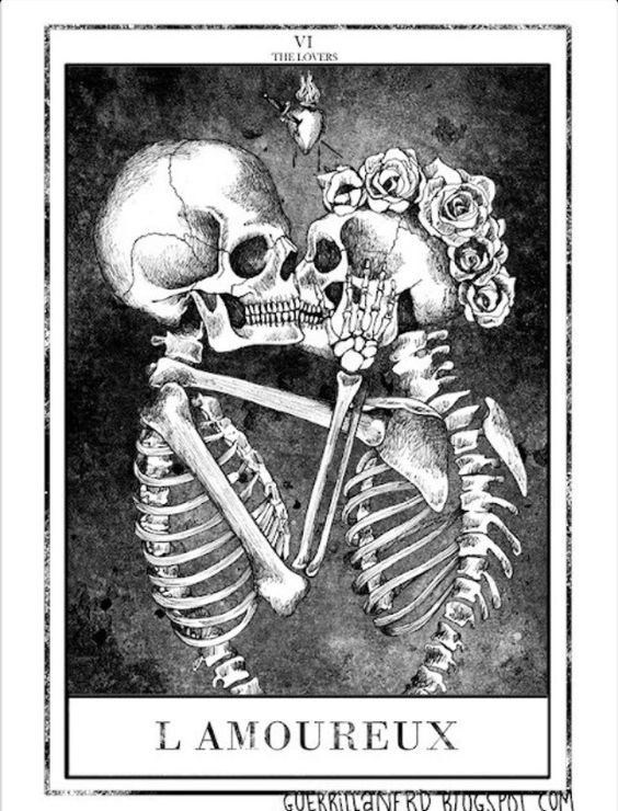 tarot, the lovers (les amoureux)  till death do us part and maybe beyond.