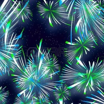 Beautiful fireworks on the black sky background photo