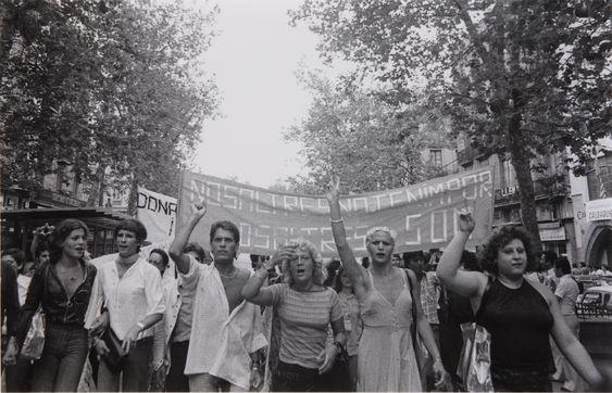 Primera manifestación del Orgullo celebrada en España. Barcelona, año 1977