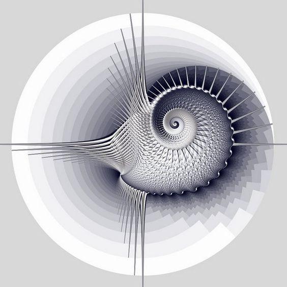 Elegant White Background Fractal Designs