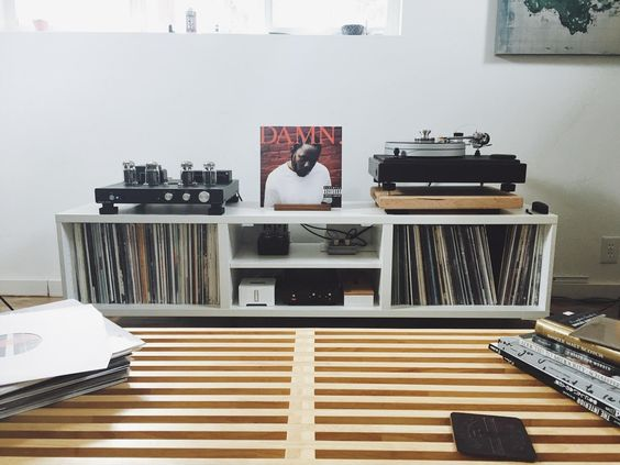 What Do You Put Your Turntable On Vinyl Vinyl Storage Vinyl Room Audio Room