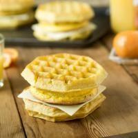 Simple Waffle Breakfast Sandwiches
