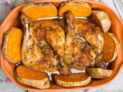 Roasted Sweet Potato Chicken Casserole