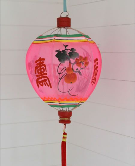 These lanterns are exquistly hand  made and painted by Chinese artists.The design is painted onto a fabric gauze.