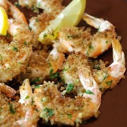 Roasted Shrimp with Garlic and Lemon....maybe the best way to eat shrimp.  Ever.