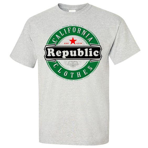 California Republic Clothes Emblem Asst Colors T-shirt/tee