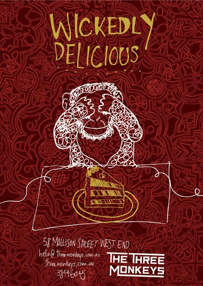 The Three Monkeys Cafe by Emma Brownson, via Behance