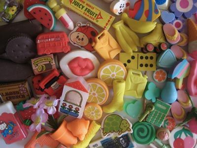 80's erasers... Does any one else feel like they smelled good too, or was just my imagination?