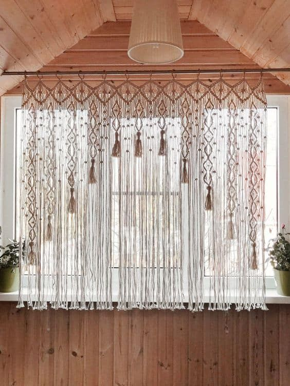 17 Amazing And Unique Curtain Ideas For Large Windows Macrame