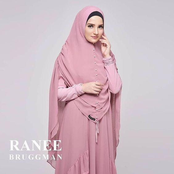Syahla Syari by Ranee Bruggman Baju Gamis Cantik Ceruti Jersey Berkualitas Warna Pink 01