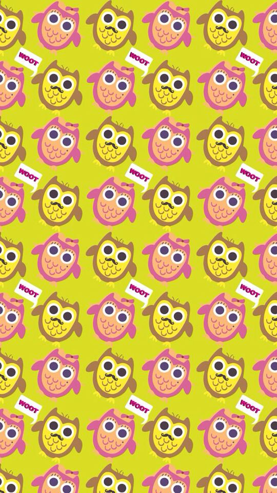 Owl and moustache wallpaper who doesn't love owls and moustaches!!!!