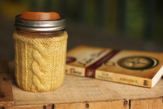 Canning jar cozy (inspired by Amanda)