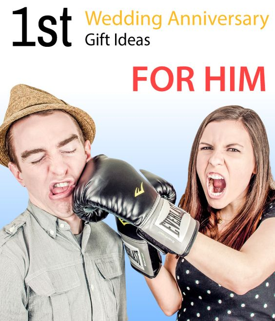 First wedding anniversary gift ideas for him. Hell be pleasantly ...