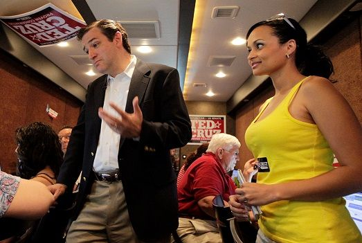 "Ted Cruz has heaped praise on Pierson, calling her:  ""An utterly fearless principled conservative"" and Cruz praised Pierson with good reason.  You see, Katrina Pierson was one of the leading campaigners for Ted Cruz, helping him to get elected to the U.S. Senate.  Here's a photo of the two of them on the campaign trail together in 2012."