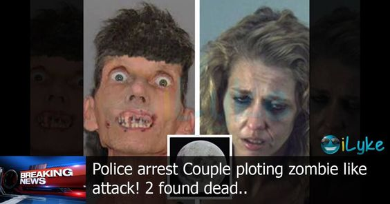 """Police Arrest Couple Planning To """"Eat Humans"""" In Zombie-Like Attack During Full Moon - View article: http://ilyke.co/thefunnyfarm/police-arrest-couple-planning-to-eat-humans-in-zombie-like-attack-during-full-moon/73624 @ilykenet"""