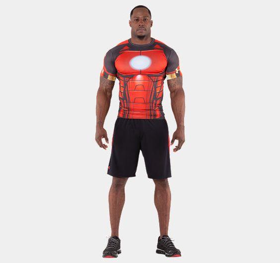 Alter ego men s short sleeve t shirt pinterest under for Hulk under armour compression shirt