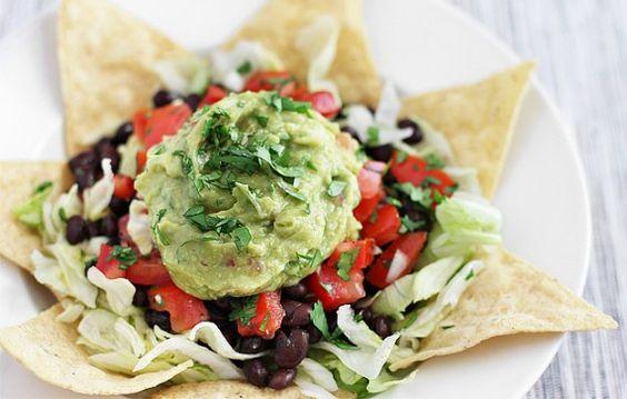 Big Fat Vegan Taco Salad with guacamole