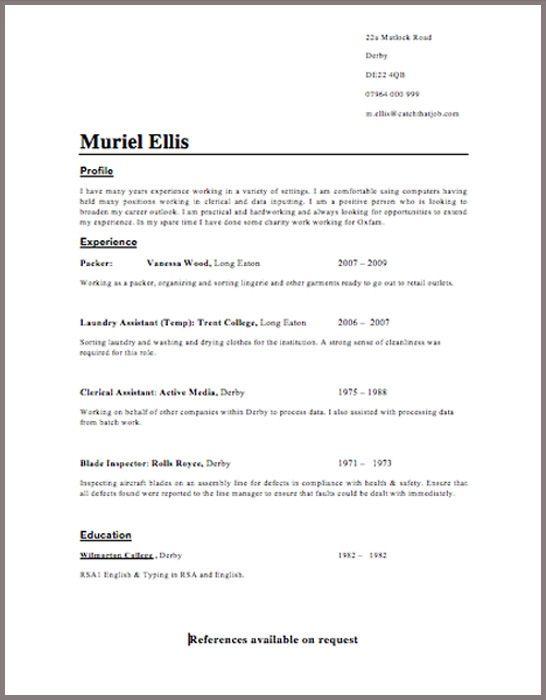 Cv Template Word Uk Free Zohrehorizonconsultingco Resume Templates Resume Examples Resume Format