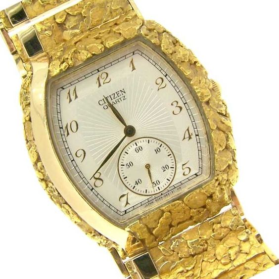 custom alaskan gold nugget citizen quartz alaska