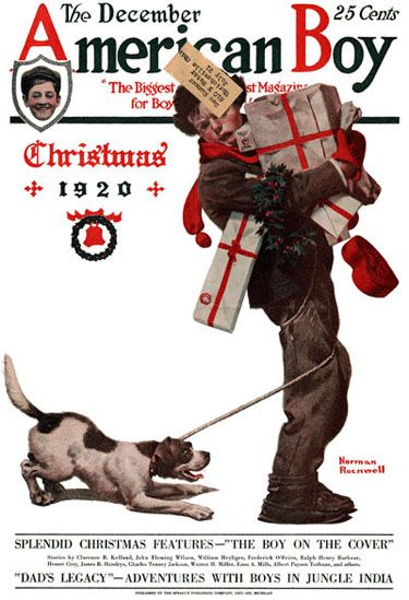 The American Boy Cover, Dec. 1920, by Norman Rockwell