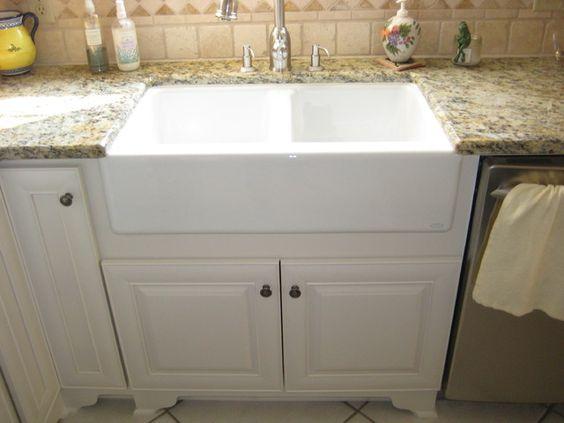 apron front sink Backsplash ideas Pinterest Granite, Apron Front ...