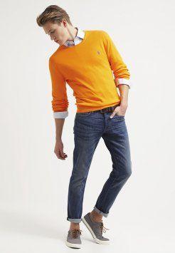 Polo Ralph Lauren - SLIM FIT - Sweter - sunset orange