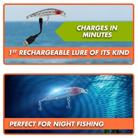 electronic tournament legal fishing lure | rechargeable twitching, Reel Combo