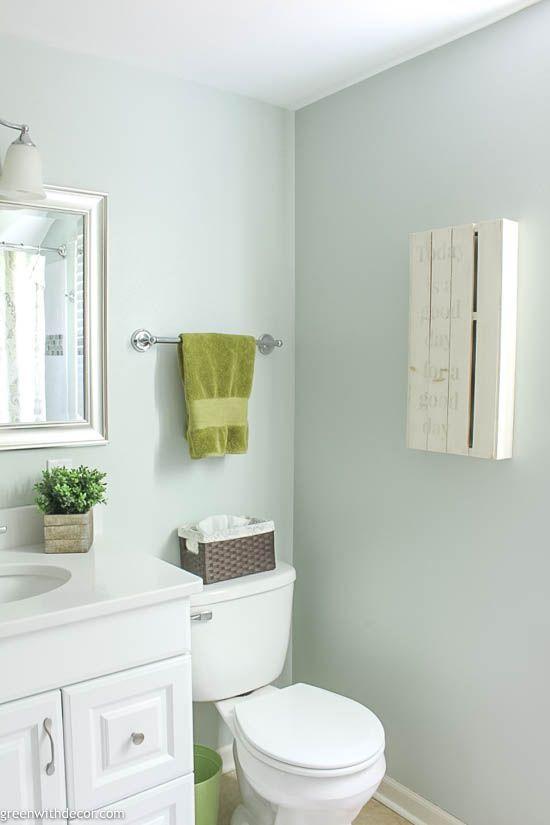 Sea Salt By Sherwin Williams Paint Color Series Green With Decor In 2020 Sea Salt Paint Bathroom Colors Farmhouse Style Bathroom Decor