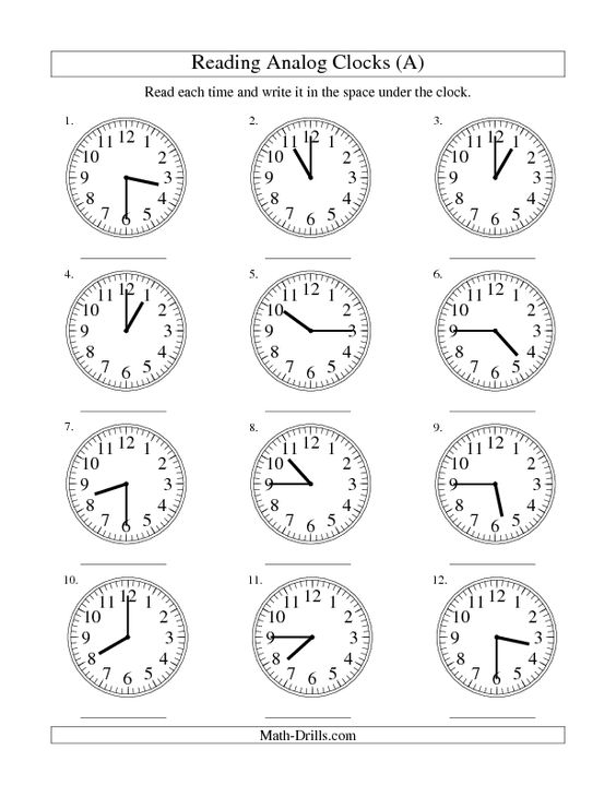 Time Worksheets time worksheets to the nearest 15 minutes : Measurement Worksheet -- Reading Time on an Analog Clock in 15 ...