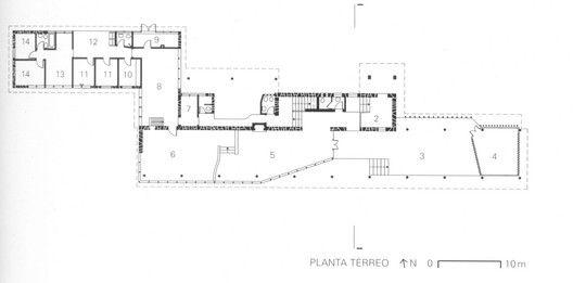 Clássicos da Arquitetura: Park Hotel,Planta térreo. Via Wisnik, 2001