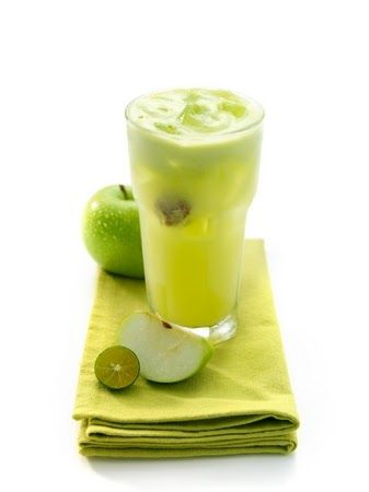 [RECIPE] : Iced tea with green apple