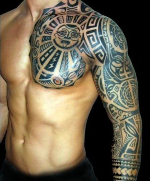 101 Best Tribal Tattoos For Men Tribal Arm Tattoos Tribal Chest Tattoos Cool Tribal Tattoos