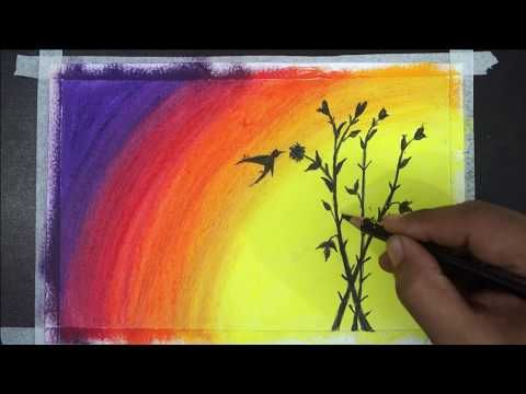 Painting Of Oil Pastel Oil Pastel Drawing Easy Landscape Drawing Easy Youtube Oil Pastel Drawings Easy Landscape Drawing Easy Oil Pastel Drawings