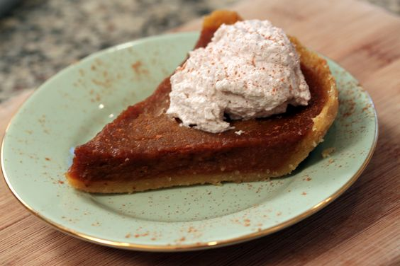 Classic Pumpkin Pie with Cinnamon Whipped Cream, via @Gaby Dalkin