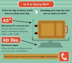 ALREADY READ  Make sure your carry-on is just right to avoid extra fees.